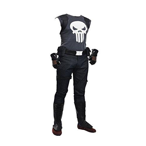 [MLYX Men's the Punisher Frank Castle Cosplay Costume X-large] (Punisher Cosplay Costume)