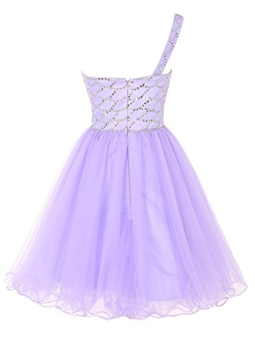 Kleid Linie A Lavendel Damen Fanciest qzHxtz
