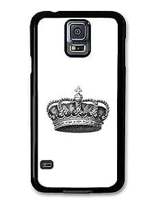 Cool and Stylish Black and White Royal Crown Design carcasa de Samsung Galaxy S5