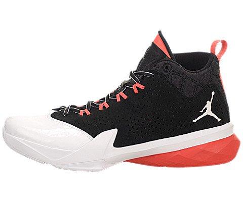 (Jordan Nike Men's Flight Time 14.5 Black/White/White/Infrared 23 Basketball Shoe 10 Men US)