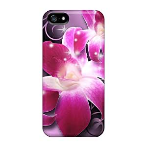 Premium pragmatic Orchids Luxury Fashion For Iphone 5/5S Phone Case Cover Protective Cases Covers