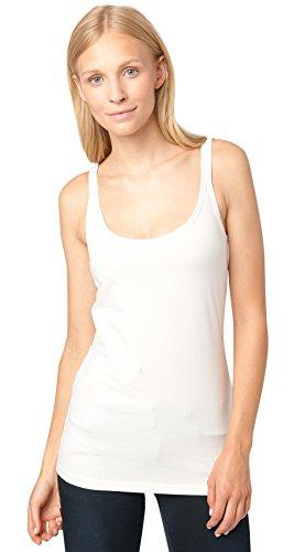 TOM TAILOR - Camiseta sin mangas - para mujer Whisper White