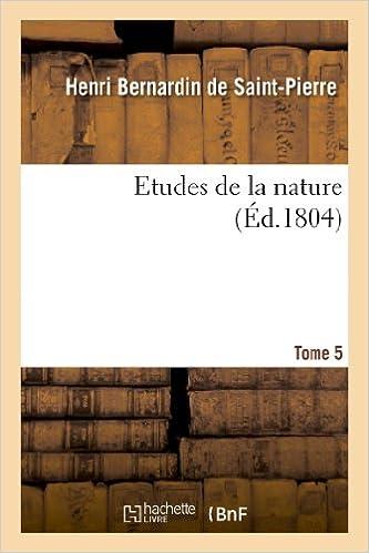 Téléchargement Etudes de la nature. Tome 5 pdf epub