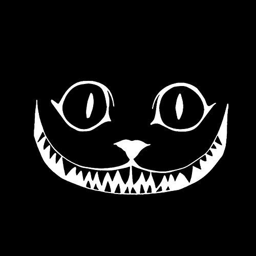 Brave669 Funny Cartoon Animal Smile Face Car Decor Sticker Halloween Reflective Decal White ()