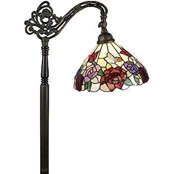 Dale tiffany tf101115 boehme downbridge floor lamp for Gotham tiffany style downbridge floor lamp