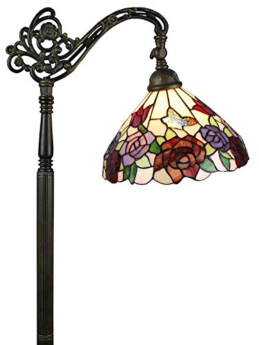 Amora Lighting Roses Reading Floor Lamp