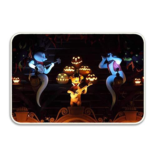 Starfactr Halloween Ghosts Pumpkins Music Guitar Inspirational Yoga, Zen, Welcome Doormat - 20x32]()