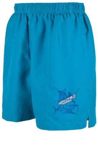 Guy Harvey Men's Grand Slam Lined Swim Trunks (Turquoise,XX-Large)