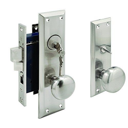 Segal SE 27600 Entrance Mortise Lockset, 2-1/2 in. Backset, Wrought Solid Brass, Satin Nickel