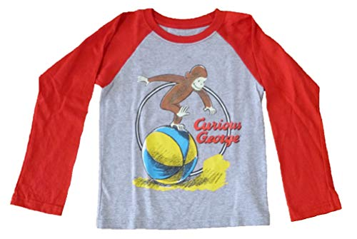 - Extreme Concepts Toddler Boys Curious George Long Sleeve T-Shirt Size 5T Gray Red