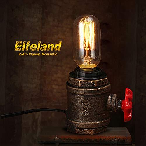 Cheap  Elfeland Vintage Table Lamp Industrial Wrought Iron Desk Lamp Steampunk Antique Accent..