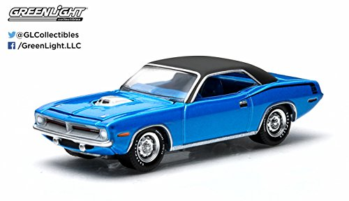 1970 Plymouth HEMI Cuda (Jamaica Blue) GL Muscle Series 11 Greenlight Collectibles 1:64 Scale 2015 Die-Cast Vehicle & Trading Card -