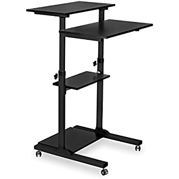 Amazoncom MountIt Mobile Stand Up Desk Height Adjustable