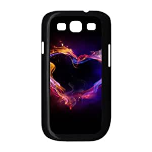 Samsung Galaxy S3 Case Colorful Love Heart of Smoke, Samsung Galaxy S3 Case Heart & Love, [Black]