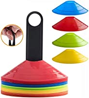 40 Pack Soccer disc Cones with Holder for Training, Football, Kids, Sports, Field Cone Markers Birthday Party