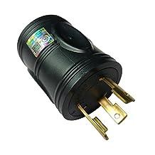 Parkworld 691586 30 AMP Power Adapter 3-Prong Generator Locking L5-30P Male to RV TT-30R Female, Black