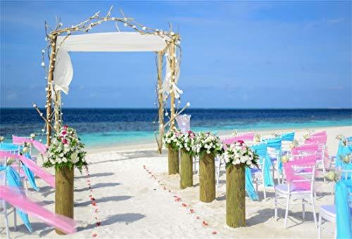 Yeele Wedding Backdrops 8x6ft Seaside Beach Bouquet Archway