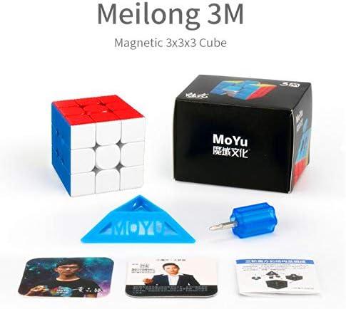 CuberSpeed Moyu Meilong 3x3 M Magnetic stickerless Speed Cube MFJS MEILONG 3x3x3 M Cubing Classroom Meilong 3x3 M Speed Cube