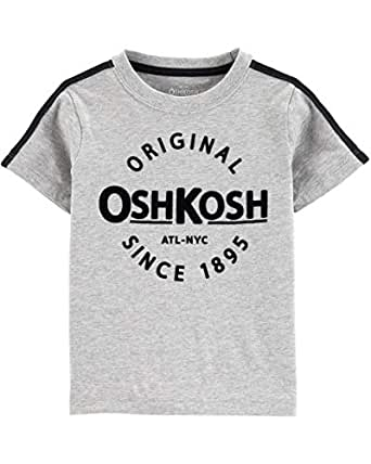 OshKosh B'Gosh Boys Logo Tees Short Sleeve T-Shirt - Gray - 2T