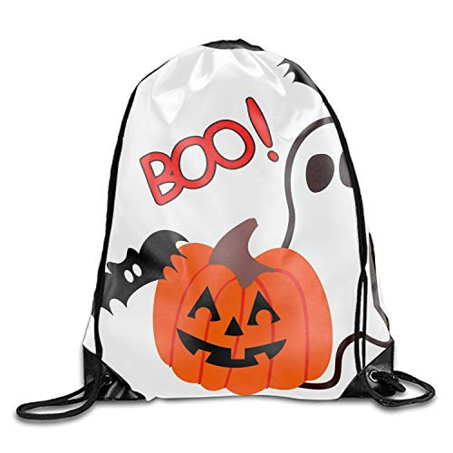 Happy Halloween Wishes Drawstring Backpack Travel Sackpack Sport Gym Cinch -