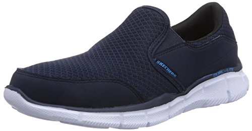 Skechers Sport Men's Equalizer Persistent Slip-On Sneaker, Navy, 13 M - D&g Canada