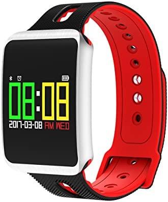 Smartwatch K&J® CHIPMUNK TF1 Bluetooth, impermeable, con modo multideportivo, podómetro, contador de ejercicio, calorías, y datos de salud, apto para ...
