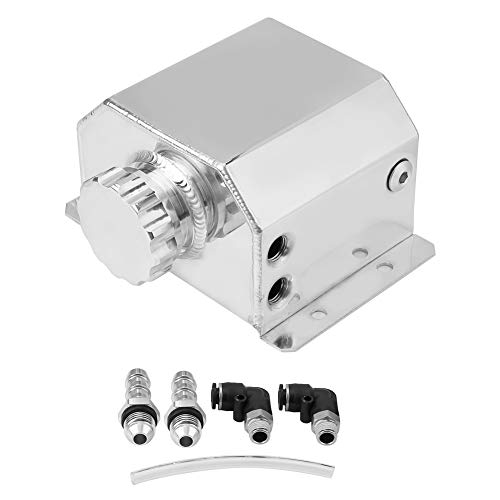 EBTOOLS Universal Depósito de Aceite del Motor de Aleación de Aluminio, Olla de Aceite Transpirable del Coche Tanque de Filtro de Captura de Gases de ...