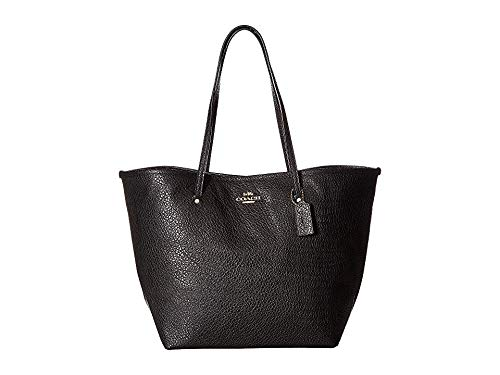 COACH Women's Leather Large Street Tote Black One Size