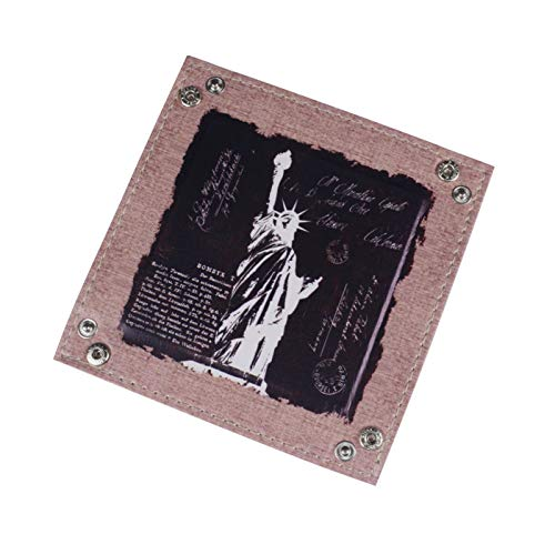 KathShop Black New York Statue of Liberty USA America PU Leather Mens Catchall Change Key Wallet Coin Box Storage Tray Valet by KathShop (Image #2)