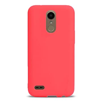 Funda LG K10 2017 Suave TPU Silicona Case, Carcasa para LG K10 2017 Ultra Delgado Flexible Goma Mate Protectiva Anti Rasguños Bumper Cover Ligero Anti ...