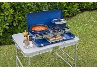 Campingaz Camping Chef plegable doble quemador y parrilla ...