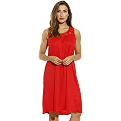 Just Love Nightgown / Women Sleepwear / Sleep Dress, 1541B-Red,3X Plus