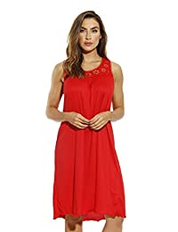 Just Love Nightgown/Women Sleepwear/Sleep Dress, 1541B-Red,3X Plus