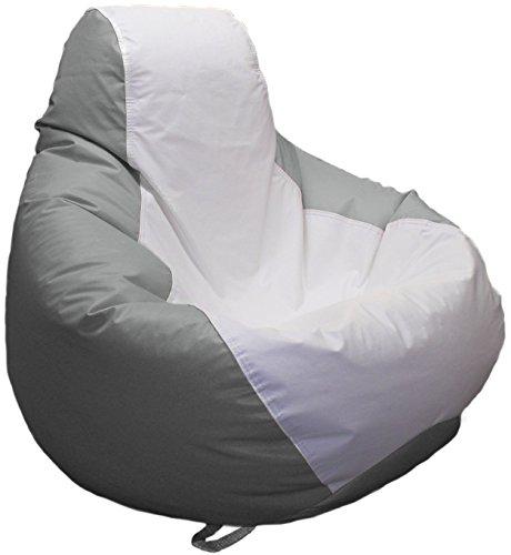 Ocean-Tamer Medium Teardrop Marine Bean Bag (White/Med Gray)