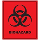 "BIOHAZARD Danger Warning sign sticker decal 4"" x 5"""