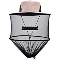 Moorecastla Mosquito Cap Midge Fly Bug Insect Bee Hat with Net Mesh Head Face Protector Fishing Hat for Outdoor Camping Hiking Hunting