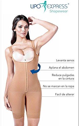 33ad0be9ebce3 Lipo Express Women s Classic Half Leg Shapewear Fajas Colombianas  Reductoras Ref 1600COCOA ...