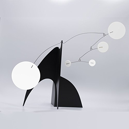 Stunning Moderne Art Stabile in Black & White - a mobile you display on desktop, coffee table, or shelf - Midcentury Modern Style