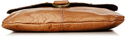 Mujer Cross Bolsos PIECES Pcnadeen Leather Cognac Body bandolera Marrón EpqqAzwnY
