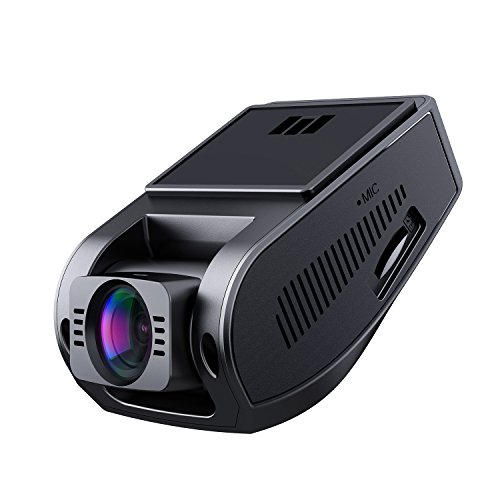 AUKEY Dash Cam, 1080P Dashboard Camera Recorder, 6-Lane 170 Degree Wide Angle Lens, Supercapacitor, G-sensor and Clear Nighttime ()