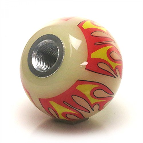 Black Carpe Diem Ivory Flame with M16 x 1.5 Insert American Shifter 293053 Shift Knob