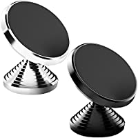 Magnetic Car Cell Phone Mount,KEKU 2Pack Smartphones Dashboard Holder for iPhone 7 6 6s plus 5 5s SE, Samsung Galaxy S8 Edge S7 S6 Note5,Nexus 6 ,GPS or Portable tablet . (Cool black&Classic White)