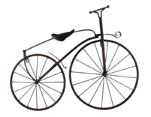 Things2Die4 Cool Metal Vintage High Wheel Bicycle Wall Hanging
