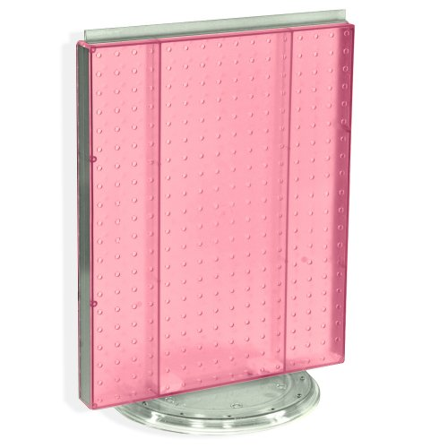 Azar 700500-PNK Pegboard Counter Display, Pink Translucent Pegboard by Azar