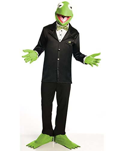 Adult Frog Costumes (Rubie's Mens Adult Halloween Muppets Kermit The Frog)