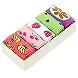 Lovely Kids' Winter Cotton Socks Warm Socks Gift-Box, 5 Pair(4-6 Years) S15-2