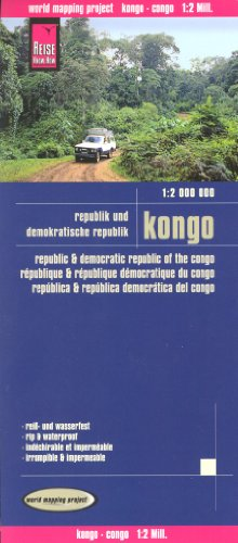 Congo Brazzaville & Democratic Republic of Congo 1:2,000,000 Travel Map, waterproof, REISE, 2012 edition