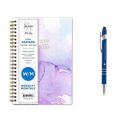 Blue Sky Weekly Monthly July 2019- June 2020 Academic Planner 5