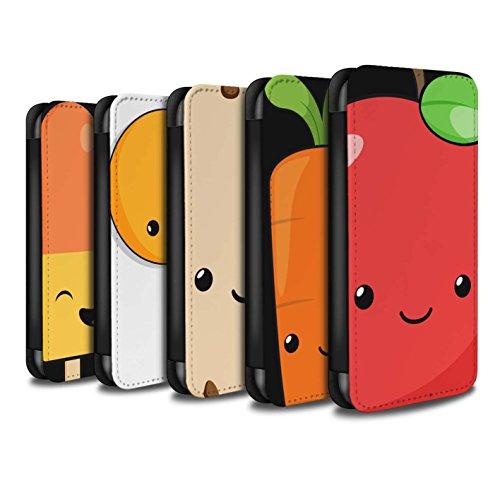 Stuff4 Coque/Etui/Housse Cuir PU Case/Cover pour Apple iPhone X/10 / Pack 9pcs Design / Alimentaire Kawaii Collection