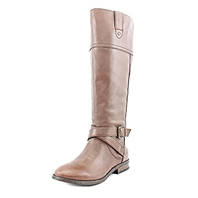 Marc Fisher Amber Riding Boot Medium Brown Wide Calf Womens 10 M US